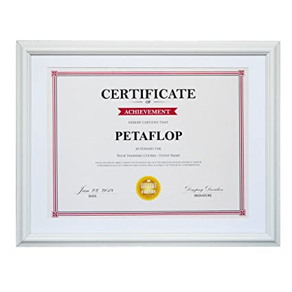 Amazon.com - PETAFLOP 8.5x11 Picture Frame White Diploma Frame for ...