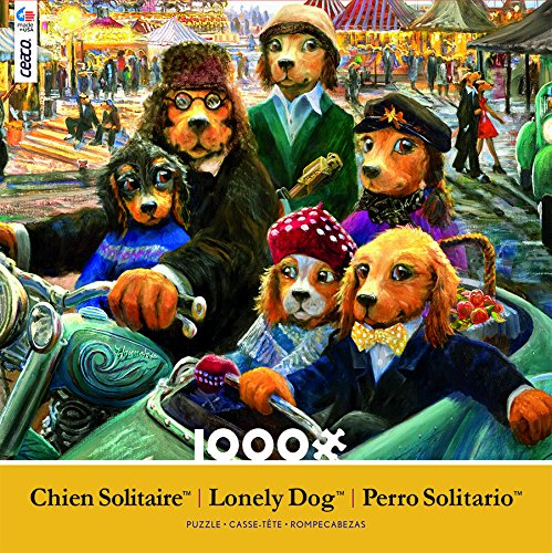 Ceaco Lonely Dog - Night At the Carnival Puzzle (1000 Piece)