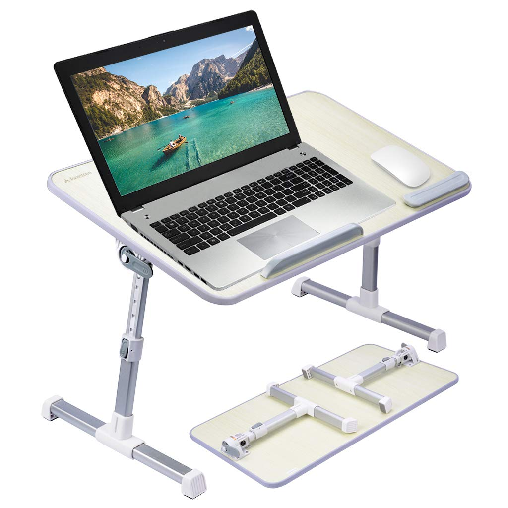 Neetto Adjustable Laptop Bed Table (Large Size), Portable Standing Desk, Foldable Sofa Breakfast Tray, Notebook Stand Reading Holder for Couch Floor Kids - TB101L