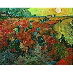 Perfect Effect Canvas ,the High Resolution Art Decorative Canvas Prints Of Oil Painting 'Vincent Van Gogh-The Red Vineyard,1888', 16x20 Inch / 41x52 Cm Is Best For Home Office Decor And Home Gallery Art And Gifts