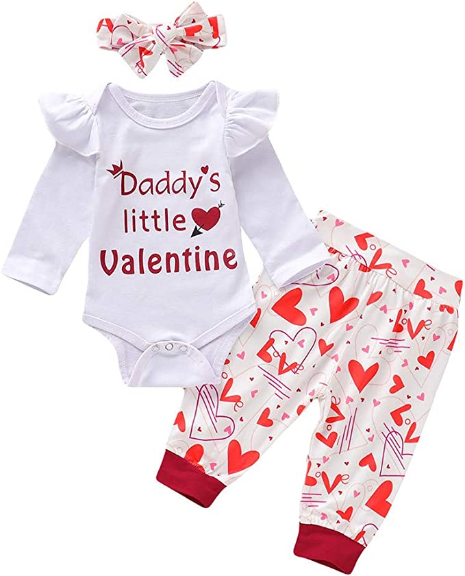 Infant Baby Girls Clothes Set Hooded Tops Long Pants Thanksgiving Outfits Set