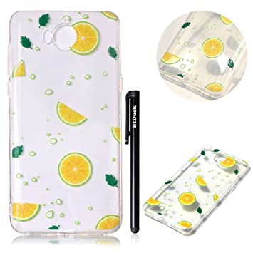 BtDuck Silicone Relief Transparent Shell for Huawei Y5: Amazon co uk