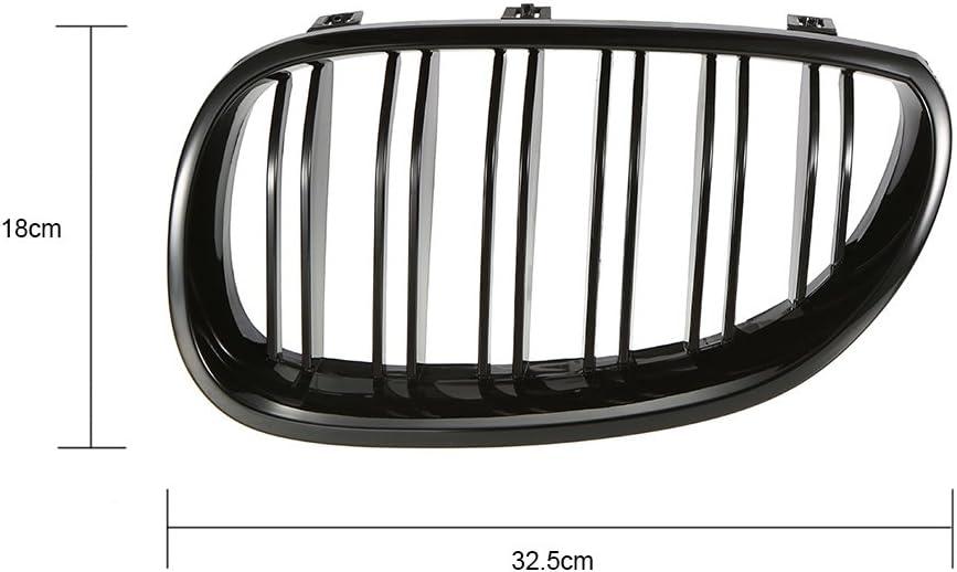 2010/berline E60/E61/M5/Noir brillant avant Rein Twin Palmes double Grille inf/érieure 5/Series 520I 535I 550i Ricoy pour 2003