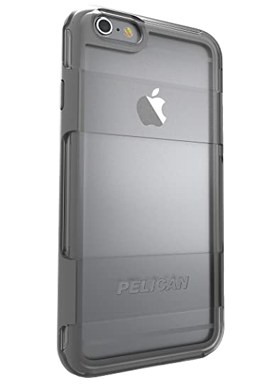 new arrival c40cd 88d56 Pelican Cell Phone Case for Apple iPhone 6/6s Plus - Retail Packaging -  Clear/Gray