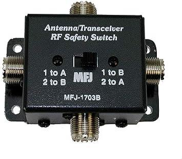 MFJ -1703B - Interruptor de antena RF: Amazon.es: Electrónica