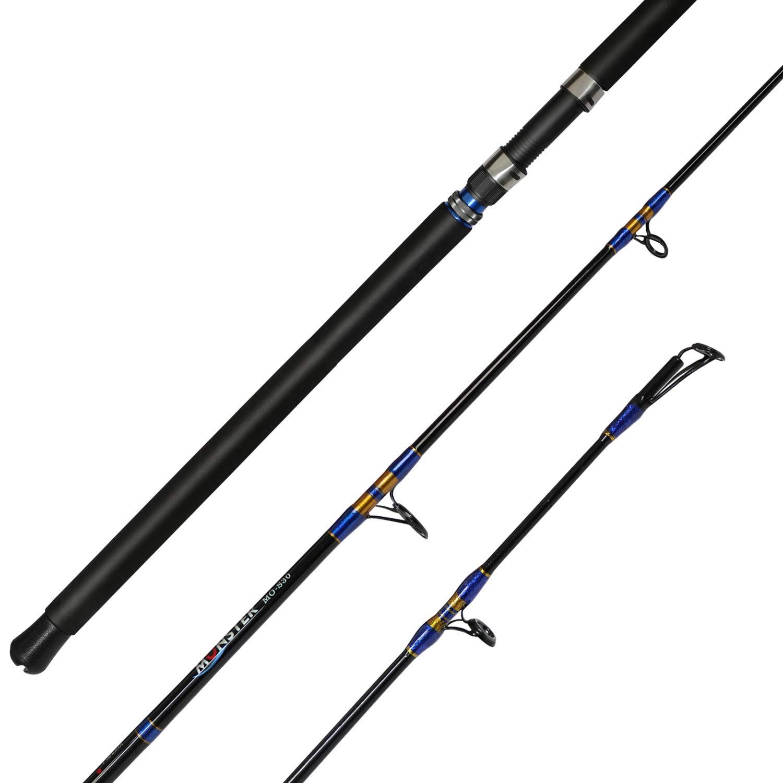 Fiblink Jigging Spinning Casting Rod 1-Piece Saltwater Fishing Jigging Jig Rod 30-50lb 50-80lb,6-Feet,Heavy