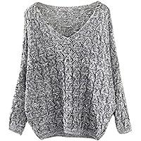 La venta. Loose Suéter de Remoción, teresamoon Mujeres Hollow Out parte superior Jumper los Jerseys