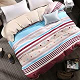 country style [stripe] Solid Color [Cotton] quilt cover(Contains only a quilt)-O 180220cm(71x87inch)
