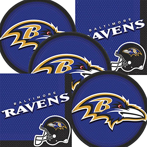 Baltimore Ravens NFL Football Team Logo Plates And Napkins Serves (Baltimore Ravens Paper)