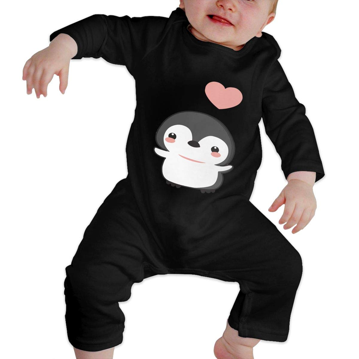 Comfortable Penguin Cotton Crawling Suit Jumpsuit Db84UR@5p Newborn Baby Girls Boys Long Sleeve Bodysuit