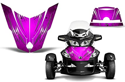 CreatorX Can-Am Brp Spyder Rs Gs Hood Graphics Kit SpiderX Red Silver