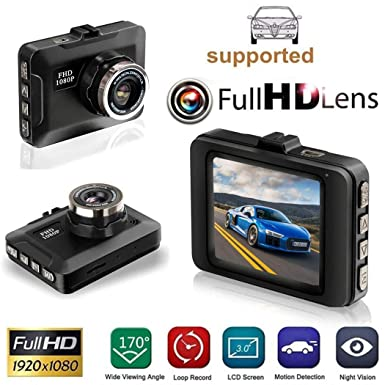 UpBeauty HD 1080P Car Driving Recorder 2.2 inch Display Screen Multi-function Screen 150 Wide Trucks with Night Vision Motion Detection Driving Loop Recording