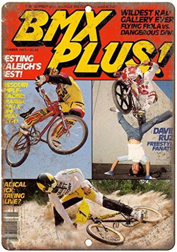 1983 BMX Plus magazine 10' x 7' reproduction metal sign B53 Bmx Plus Shop