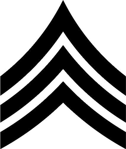 Army NCO Rank E5 SGT Sergeant Decals Sticker