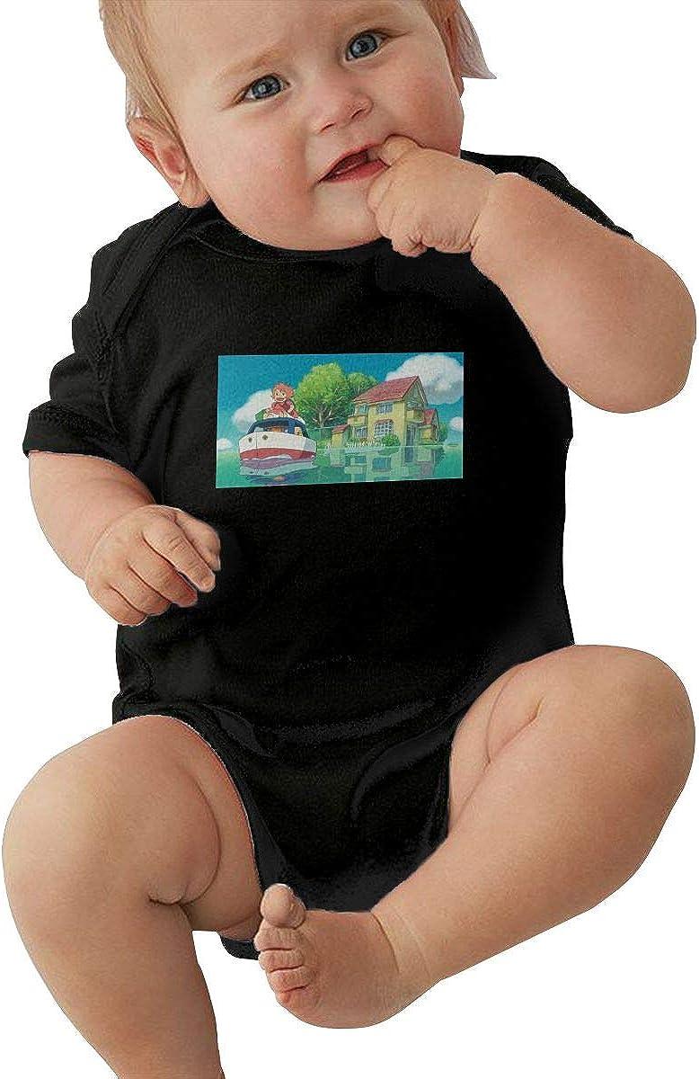 EVE JOHN Ghibi Studio Baby Boy Coverall Summer Black