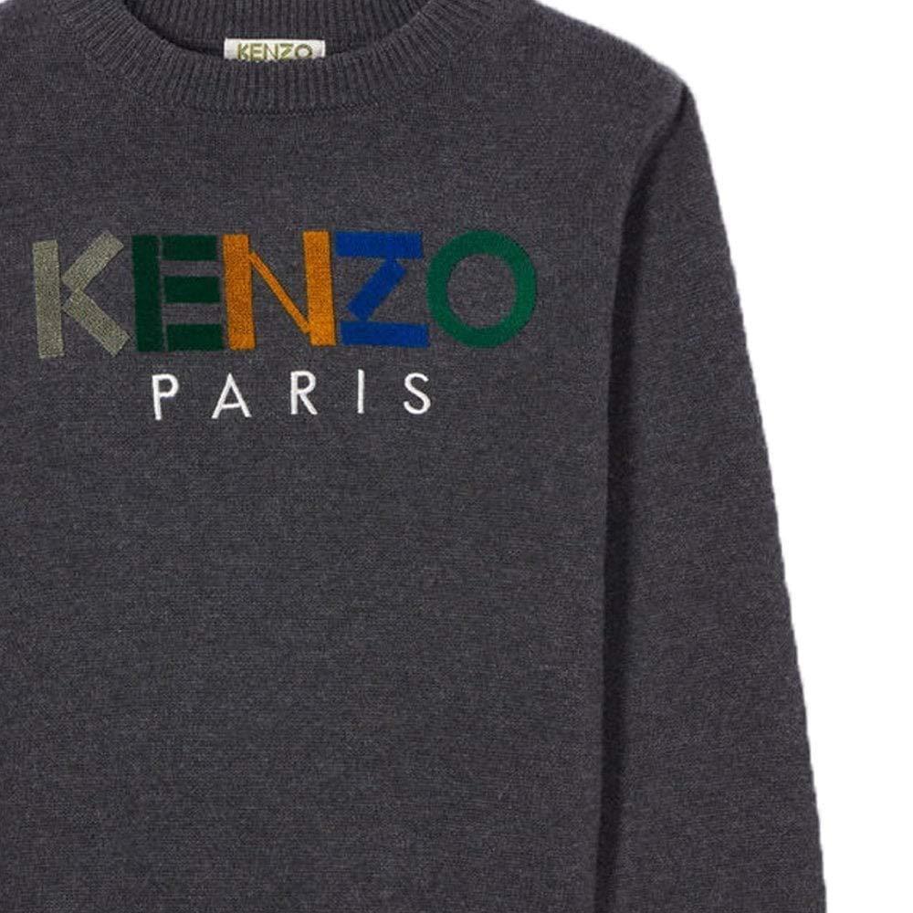 Kenzo Kids Grey Logo Sweater