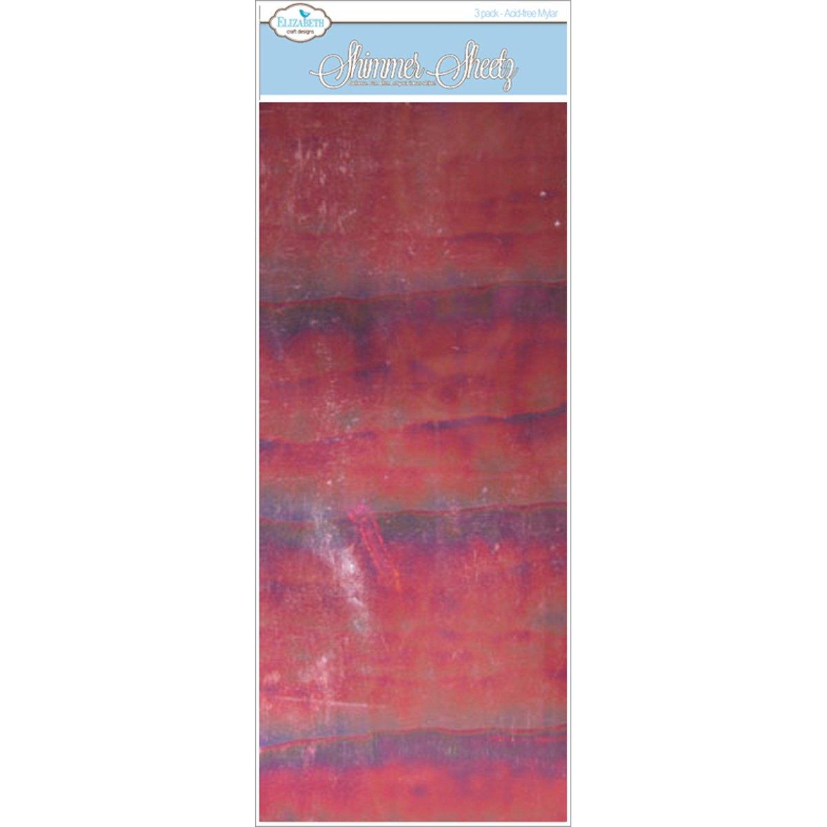 Elizabeth Craft Designs Mylar Shimmer Sheetz 5-inch x 12-inch -Ruby ...