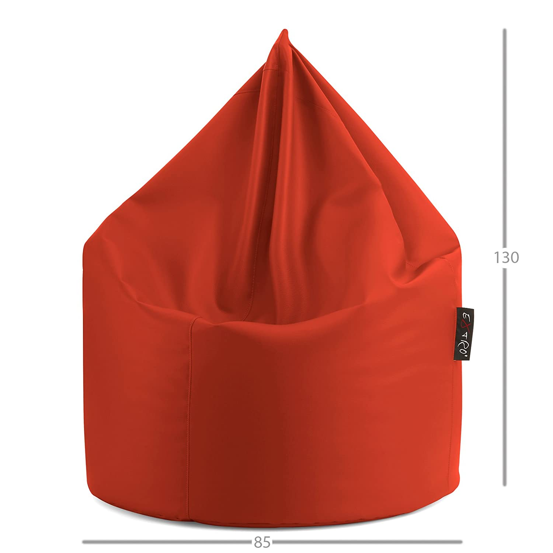 EXTROITALY Radical XL Beige POUFF Puff PUF Pouf Sacco Morbido Ecopelle PVC 85X130 cm RIEMPITA con Perle di POLISTIROLO