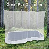 Premium Mosquito Net for Single Bed, crib, hammock or camping by Alpine Grand, Full hanging kit with extra-long strings and 8 hooks, Free Carry Bag