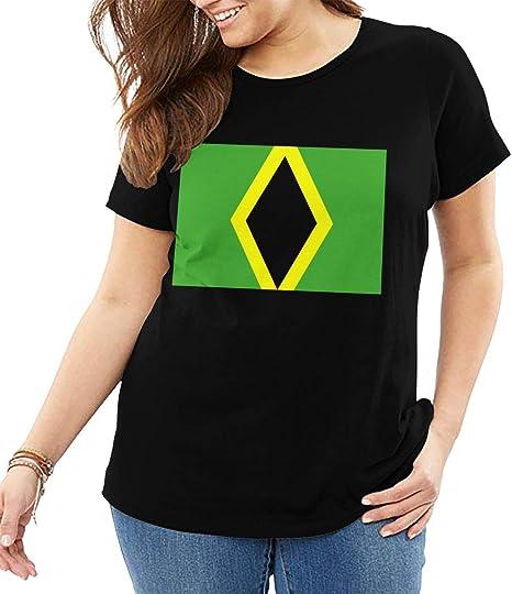 Johnson hop Bandera jamaicana Mujer Camiseta de Manga Corta Camisetas Deporte Verano: Amazon.es: Deportes y aire libre