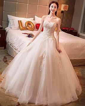 LUCKY-U Vestidos de novia Vestido de novia Mangas no A-Line Lace Chiffon