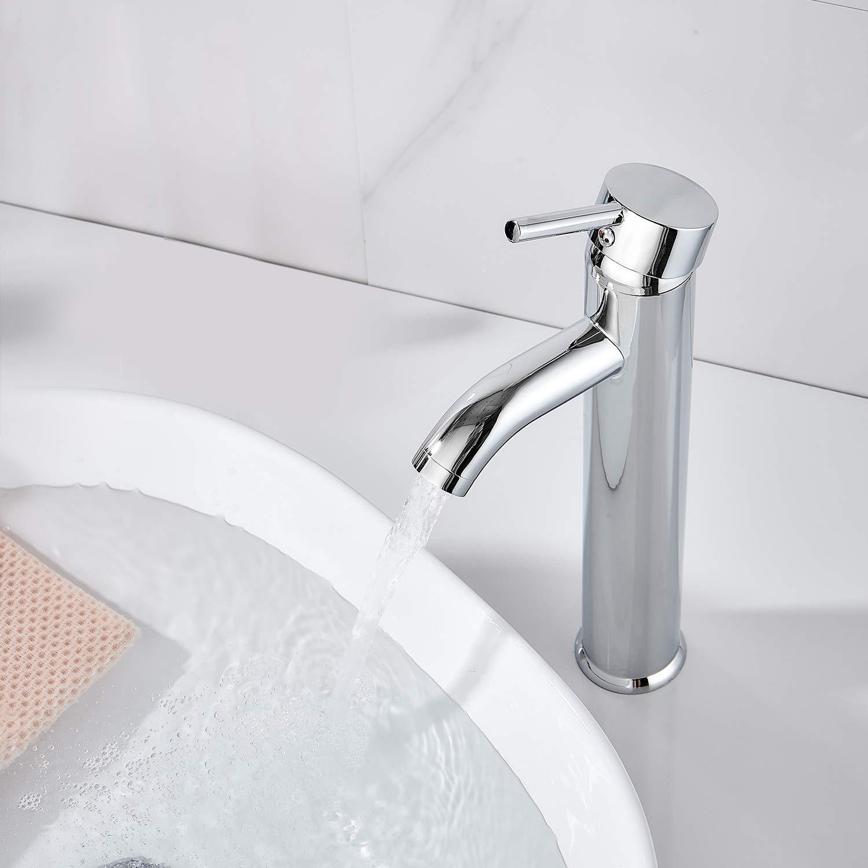 Horow Bathroom Waterfall Vessel Sink Faucet Single Hole Single Handle Vanity Faucet Polished Chrome Tools Home Improvement Bathroom Fixtures Fcteutonia05 De