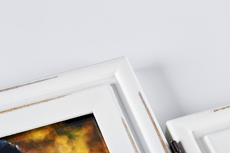 Vertical Horizontal Combo Double 4x6 Soft Blue Folding Wood