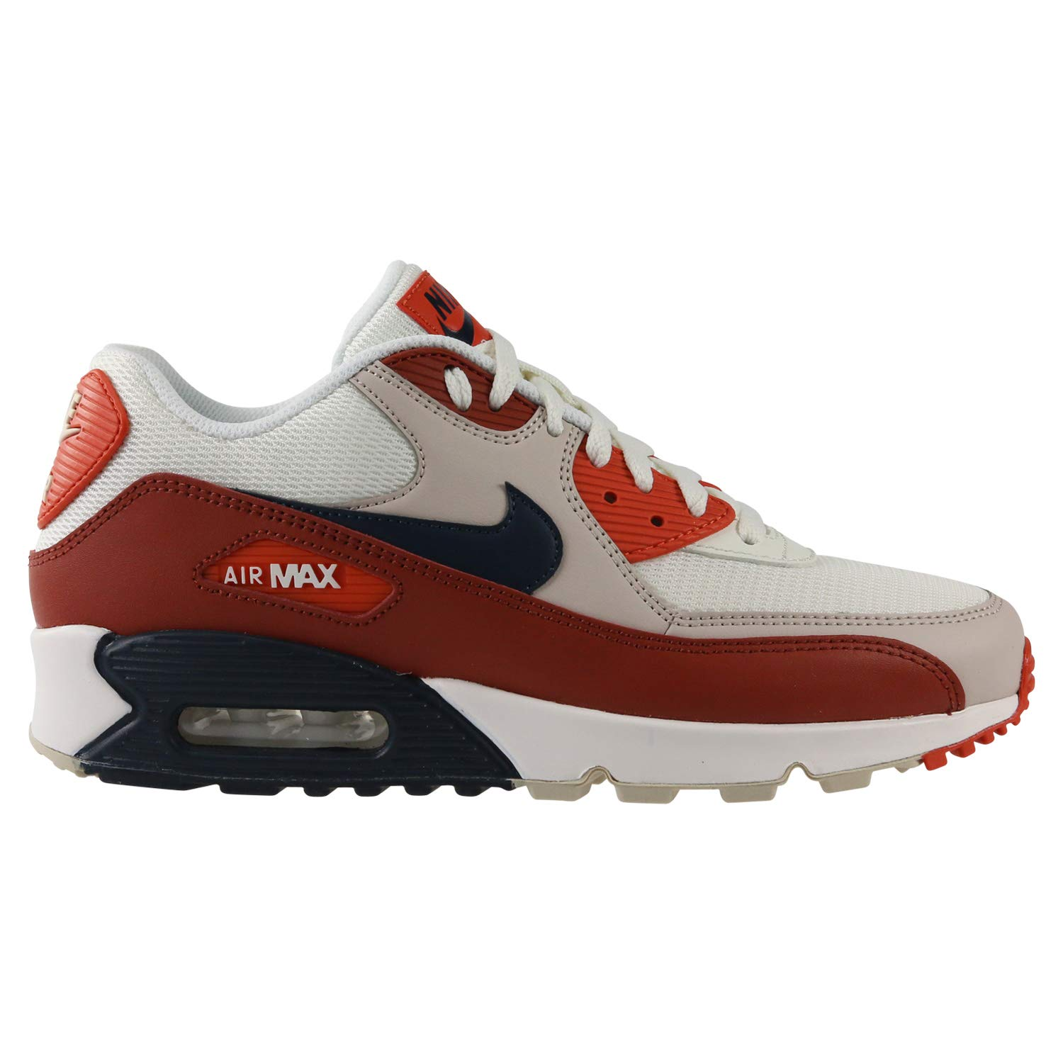 Nike Mens Air Max 90 Essential Running Shoes Mars StoneObsidianVintage Coral AJ1285 600 Size 9