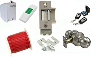 Electric Strike Door Lock and Wireless Remote Kit 14C : For Metal Frame Doors : Complete Buzz In Lock System : By Lee Electric