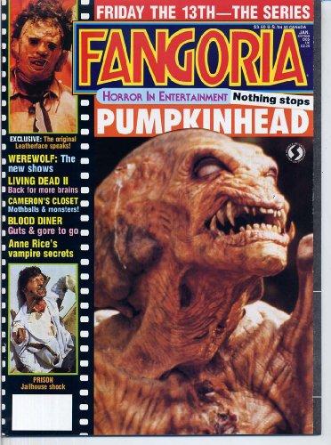 Fangoria Magazine 70 PUMPKINHEAD Eric Roberts LEATHERFACE Anne Rice RUTGER HAUER Friday The 13th RARE January 1987 (Fangoria Magazine) ()