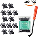 100pcs LEXUS TOYOTA Clips, 90467-07201 OEM Replacement Fasteners, Quality Nylon Push Rivets (Better than OEM)with Bonus Fastener Remover