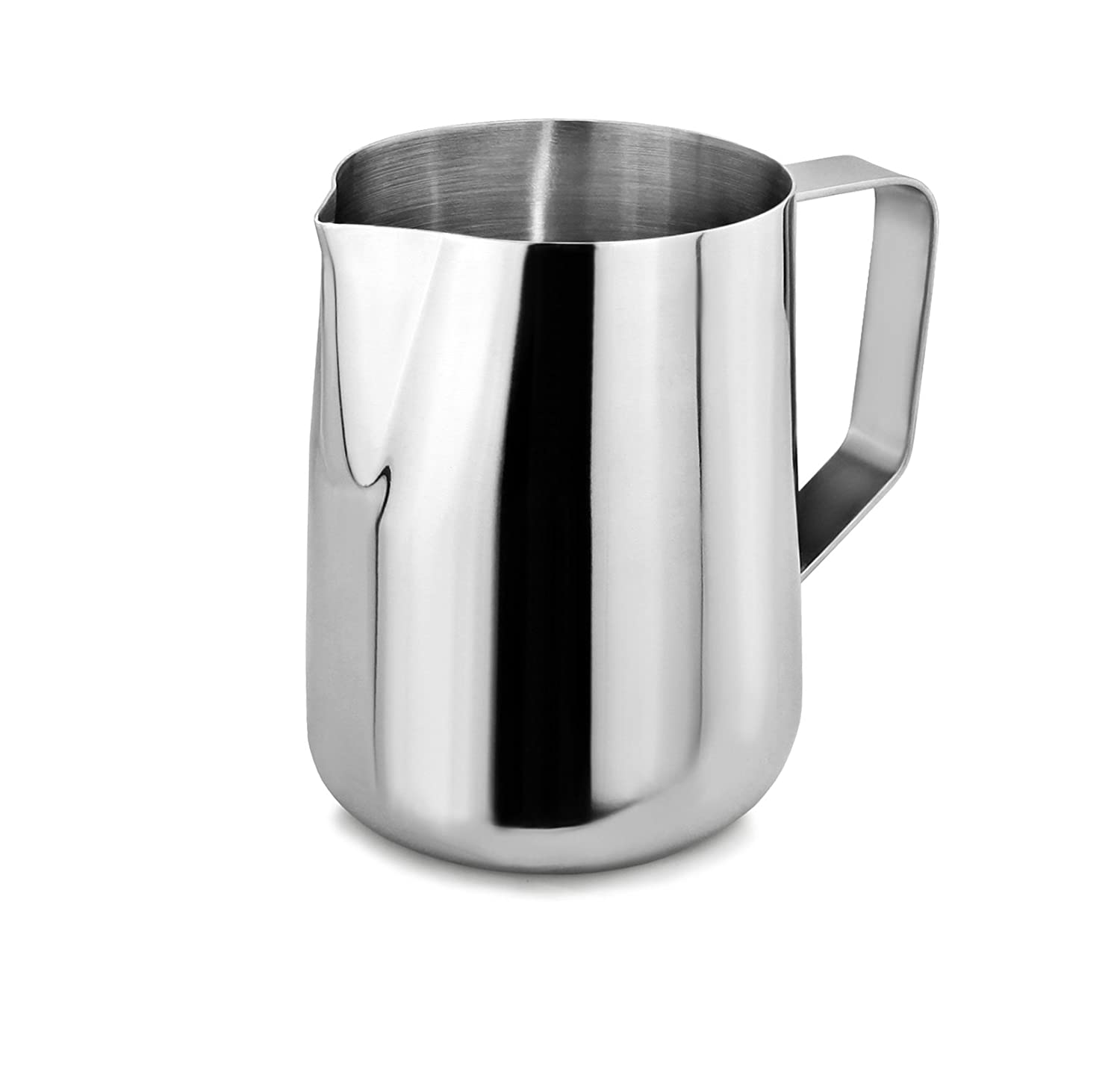 New Star Foodservice 28812 Commercial Grade Stainless Steel 18/8 Frothing Pitcher, 20 oz, Silver