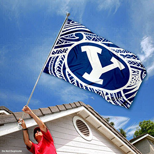 Brigham Young Cougars Samoan Pattern Flag College Flags and Banners Co