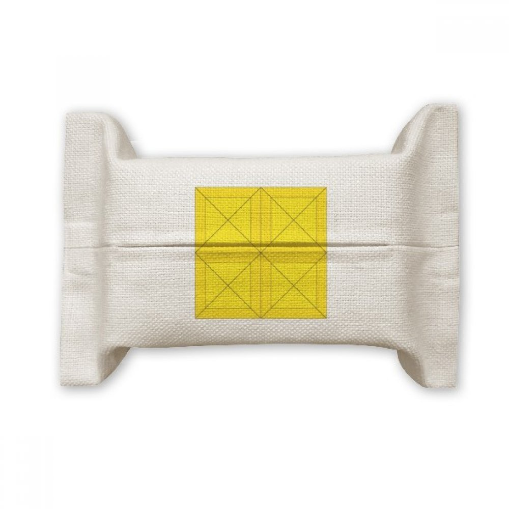 DIYthinker Classic Games Tetris Yellow Block Cotton Linen Tissue Paper Cover Holder Storage Container Gift