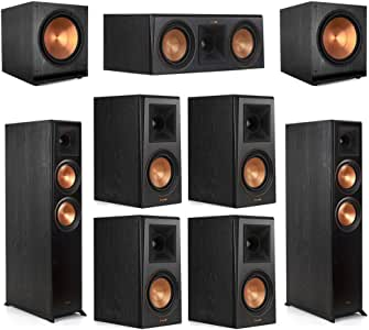 Klipsch 7.2 Ebony Home Theater System - 2 RP-6000F, 1 RP-500C, 4 RP-500M, 2 SPL-150 Subwoofers