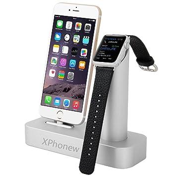 iPhone 6S Dock, xphonew 2 en 1 Lujo aluminio estación de ...