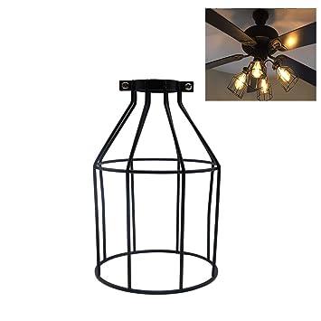 Velidy - Pantalla de lámpara vintage de metal, estilo abierto ...