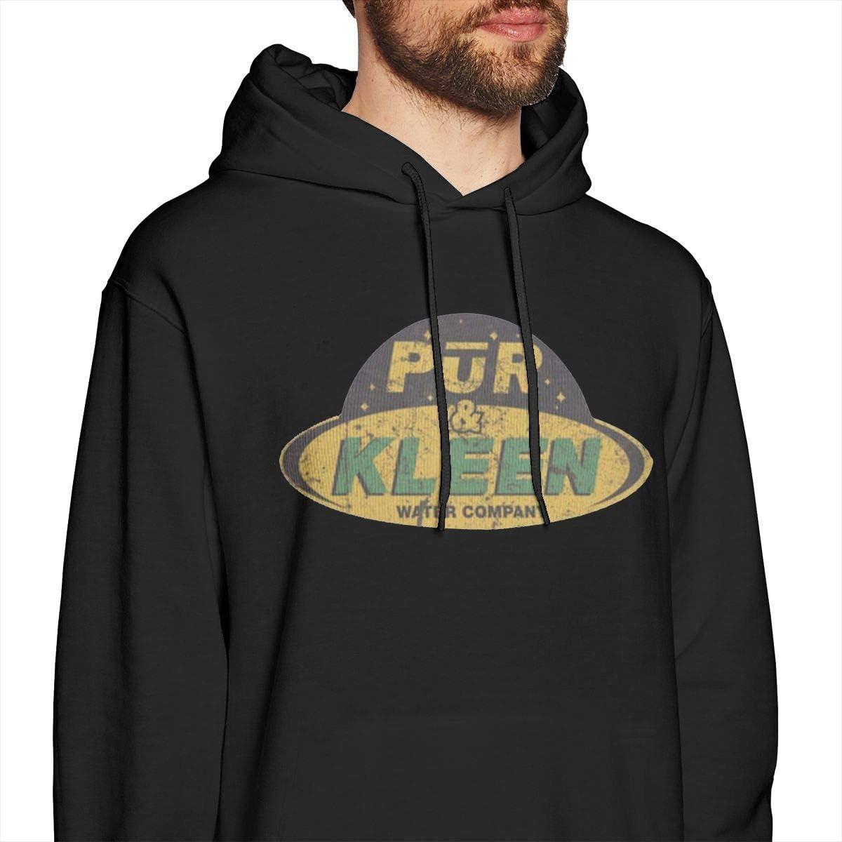 Mens Hooded Sweatshirt Pur N Kleen Original Retro Literary Design Black