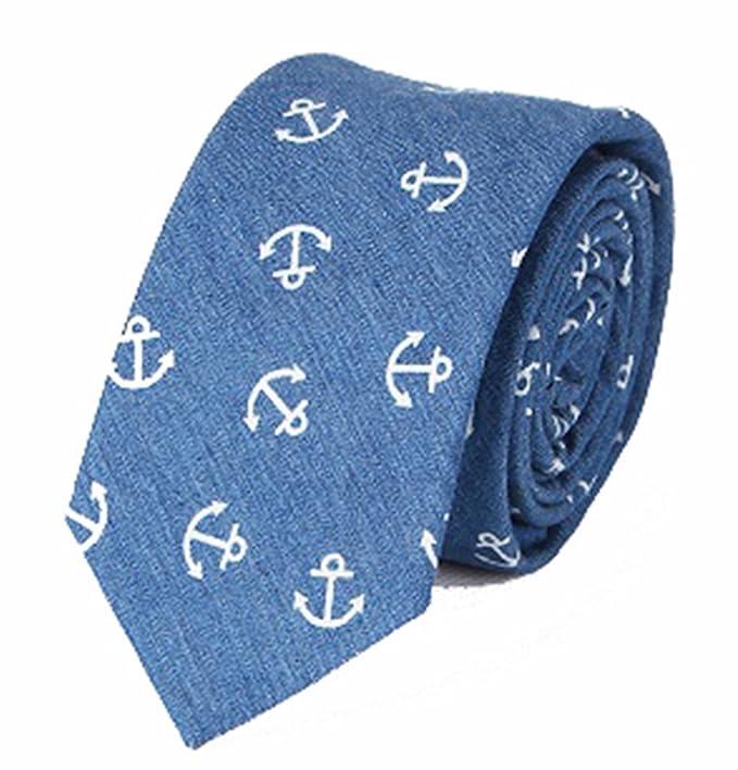 Gazebo verde moderno Skinny corbata de algodón con diseño de ancla ...