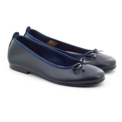 Ladies Women Diamante Ballet Flats Soft Real Leather Loafer Work Boat Shoes Size