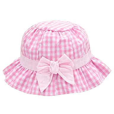 1965f8b6 Baby Girl Sun Hat Bowknot - Bucket Hats for Infant Toddler Summer Sun  Protection (0