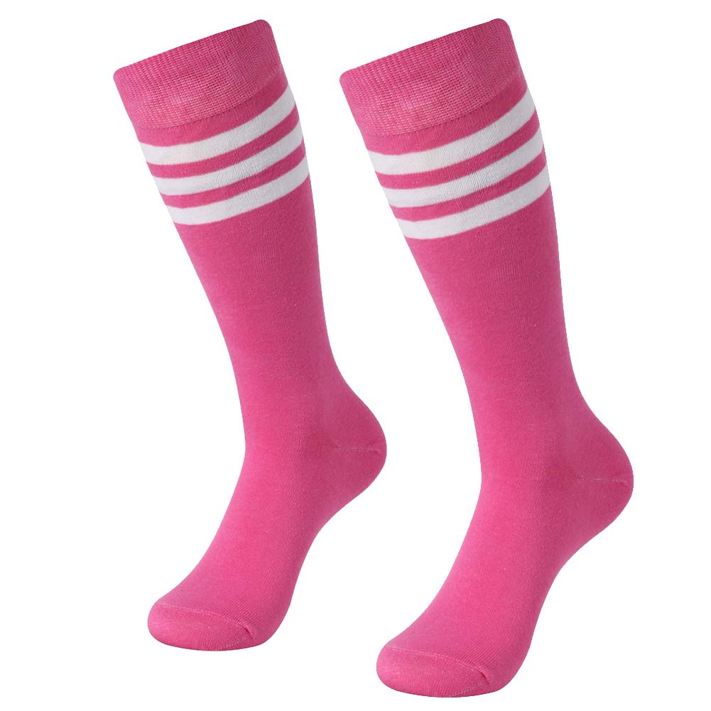 SUTTOS Men's Women's Basic Referee Long Socks Over Knee High Sock Baseball Hockey Football various on Color Stripes 2-Pairs by SUTTOS