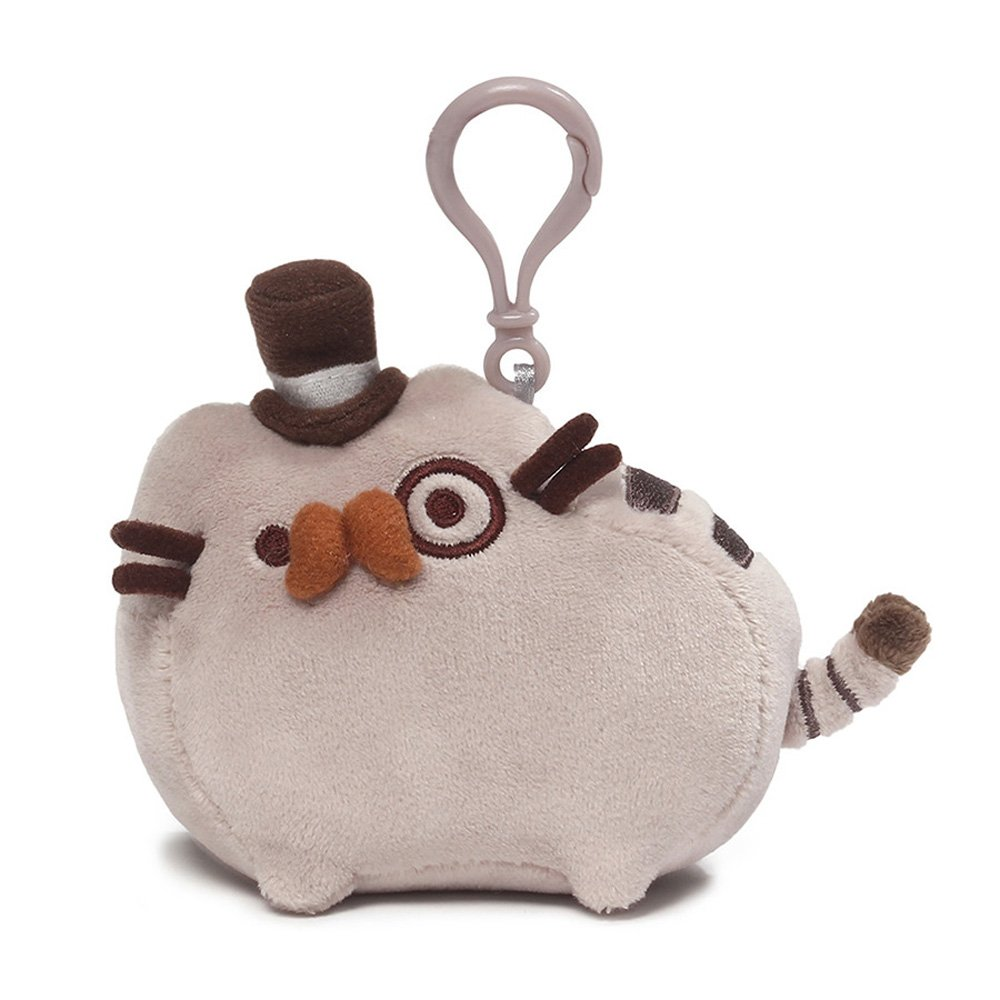 GUND Pusheen Fancy Cat Plush Stuffed Animal Backpack Clip, Gray, 4.5'' by GUND