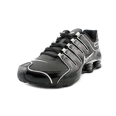 b8c5adbb7f4f NIKE Shox NZ SI Plus (GS) Youth Girls Black Leather Running Shoes Size   Amazon.co.uk  Shoes   Bags