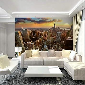 Papel pintado Mural 3D personalizado Papel de pared Ciudad Noche ...