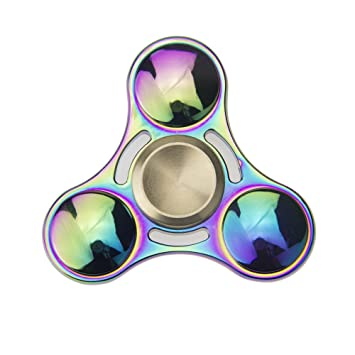 Rainbow Fidget Spinner Colorful Metal Toys Best For Kids To Relieve Stress Anxiety