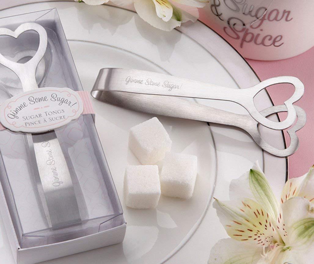 carpeta de alimentos y horquilla de hielo Pinzas de acero inoxidable para az/úcar de Oisee para boda o az/úcar pinzas de hielo para utensilios de cocina mini palma para fiesta de t/é