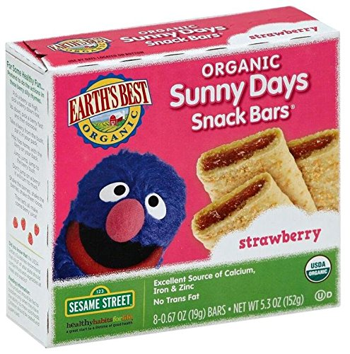 Earth's Best Sesame Street Sunny Days Snack Bars - Strawberr