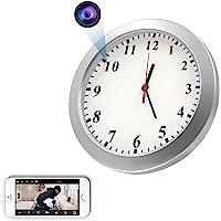 Spy WiFi Wall Clock Camera, CAMXSW HD 1080P Wireless Hidden Camera Alarm Clock for Home Security Nanny Cam Support iOS…