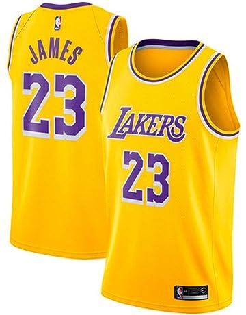 fec4443d82075 MTBD Maillot de Basket, NBA #23 Retro Lakers Lebron James,T-Shirt